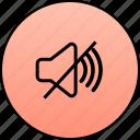 audio, music, mute, no audio, no sound, sound icon