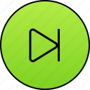 audio, forward, music, next, play, player, video icon