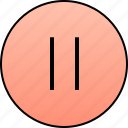 audio, instrument, music, pause, player, stop, video icon