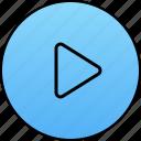 audio, build, go, play, run, start, video icon