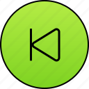 back, backward, last, last audio, past, previous, video player icon