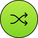 arrows, casual, mix, navigation, random, randomly, shuffle icon