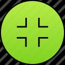 decrease, minimize, screen, shrink, small icon