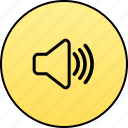 audio, microphone, music, player, sound, speaker, volume icon