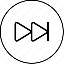 arrows, audio, forward, music, next, player, video icon