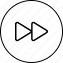 arrow, audio, forward, music, next, player, video icon