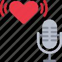 asmr, vlog, vlogging, whisper, love, microphone, recorder icon