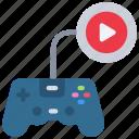 gaming, video, vlog, vlogging, gamer, live, stream icon