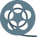 cinema, filmstrip, frame, movie, roll, spool, video icon