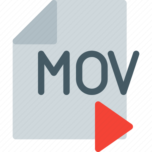digital, file, format, mov, multimedia, play, video icon