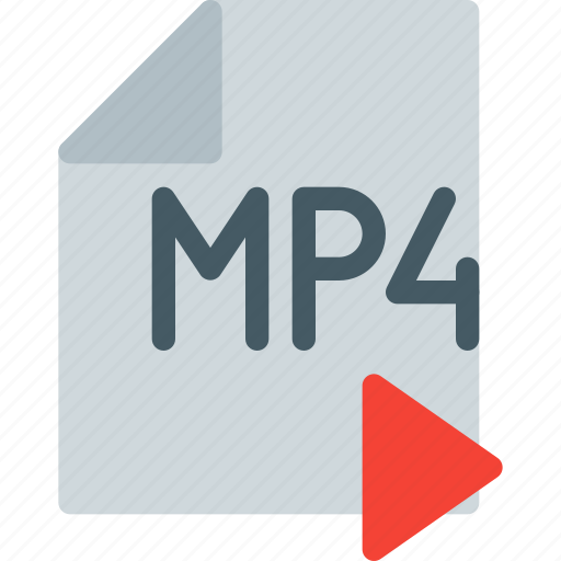 digital, file, format, mp4, multimedia, play, video icon