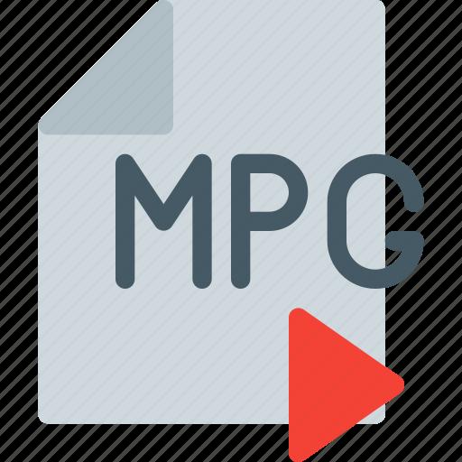 digital, file, format, mpg, multimedia, play, video icon