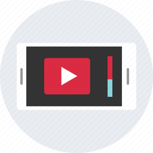 browing, device, down, mobile, scroll, youtube icon