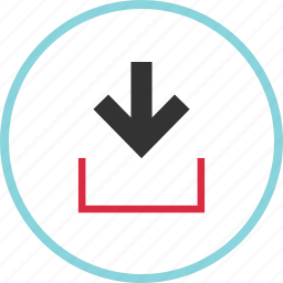 data, down, download, point, pointer icon