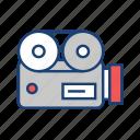 cam, camera, movie, play, tool, video icon