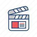 action, clip, cut, film, video icon