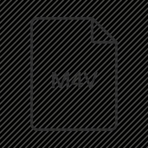 m4v, m4v document, m4v file, m4v file icon, m4v format, m4v icon icon