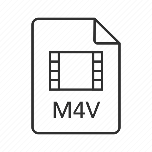 M4v document, m4v file, m4v file icon, m4v format, m4v icon, m4v, itunes video file icon - Download on Iconfinder