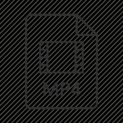 mp4, mp4 document, mp4 file, mp4 file icon, mp4 format, mp4 icon, mpeg-4 video file icon