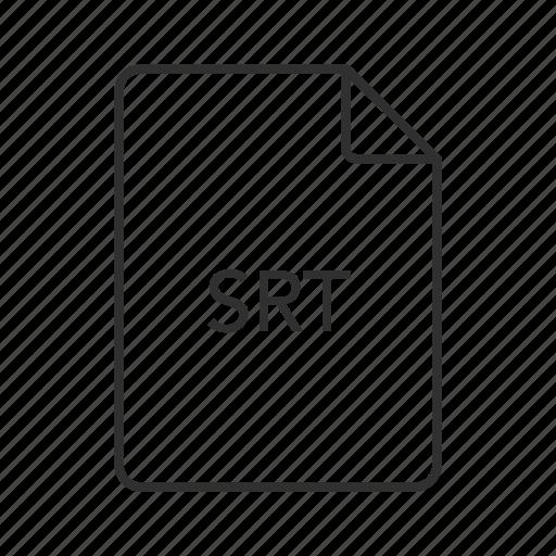 srt, srt document, srt file, srt file icon, srt format, srt icon, subrip caption files icon