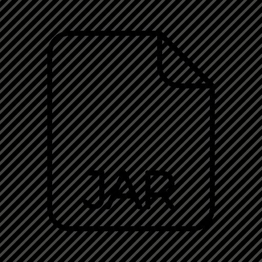 Extension, file format, jar, system file format, type icon - Download on Iconfinder