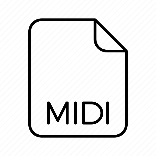 audio file format, extension, file format, midi, type icon