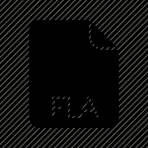 code file format, fla icon