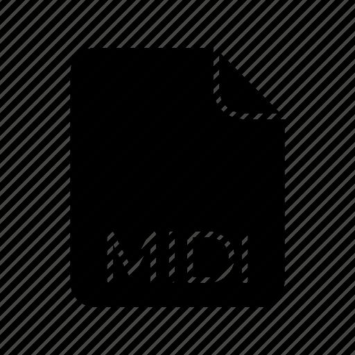 audio file format, midi icon