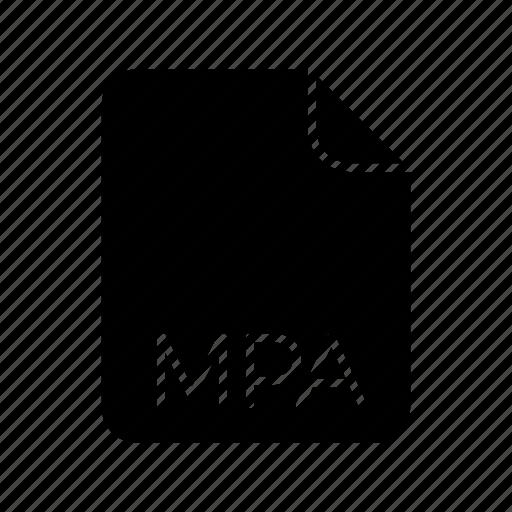 audio file format, mpa icon