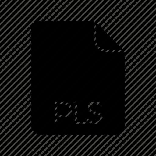 Audio file format, pls icon - Download on Iconfinder