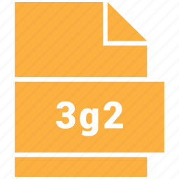 3g2, file format, video, video file format icon