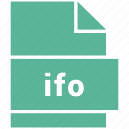 file format, ifo, video, video file format icon