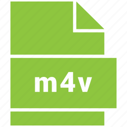 file, m4v, video file format icon