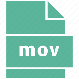 extension, file, file format, mov, video file format icon