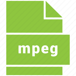 mpeg video file, mpg, video file format icon