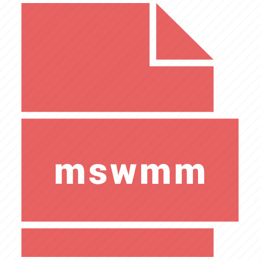 file format, mswmm, video, video file format icon