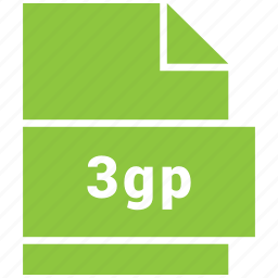 3gp, file, video, video file format icon