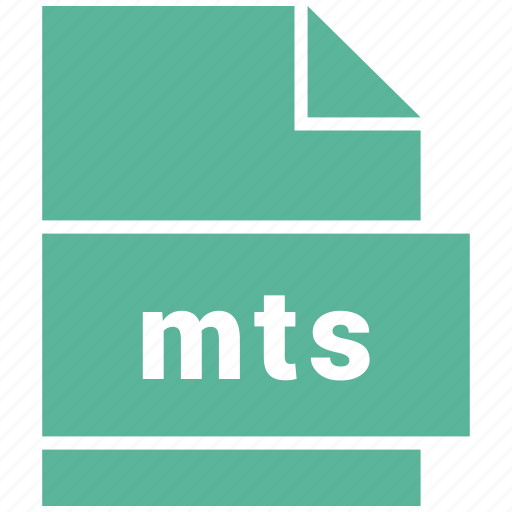 file, mts, video file format icon