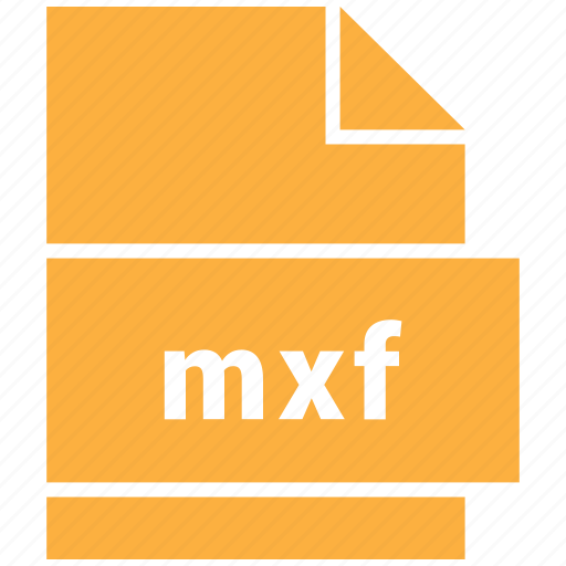 file format, mxf, video, video file format icon