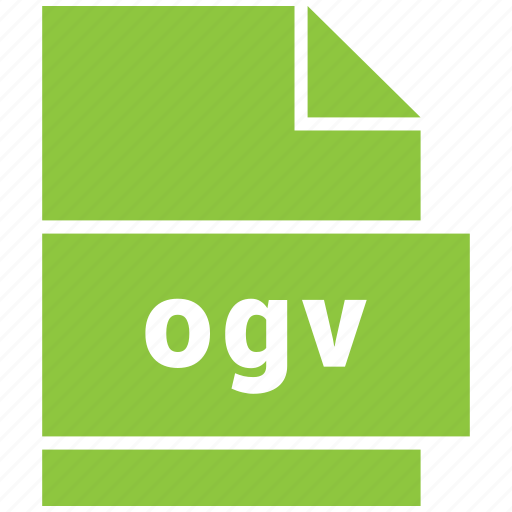 file format, ogv, video, video file format icon