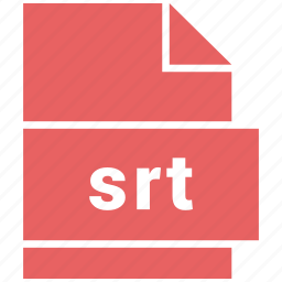 file format, srt, video, video file format icon