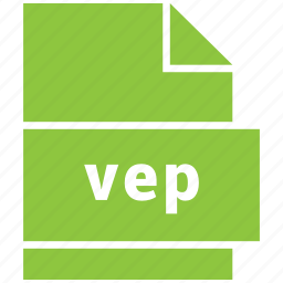 file format, vep, video, video file format icon
