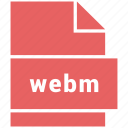 file format, video, video file format, webm icon