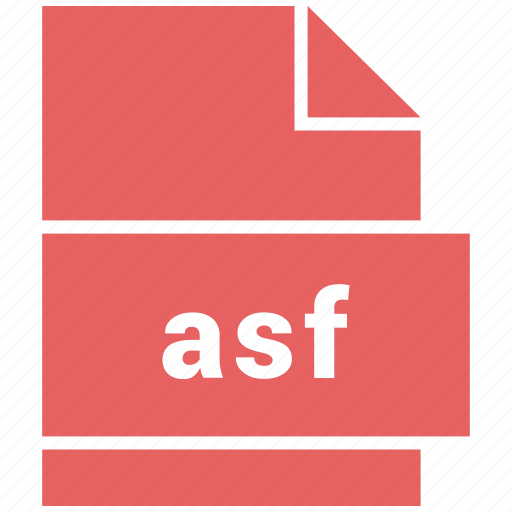 asf, document, video file format icon