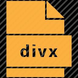 divx, file format, video, video file format icon