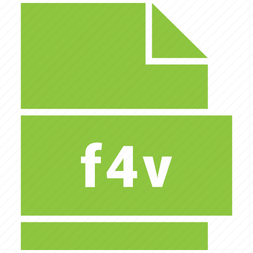 f4v, file format, video, video file format icon