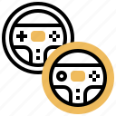 competition, game, racing, steering, wheel icon