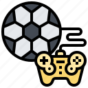competition, football, games, joystick, soccer icon