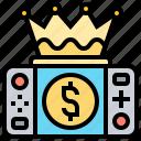 achievement, champion, crown, game, gamepad icon