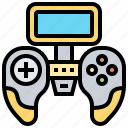 controller, device, game, joystick, wireless icon